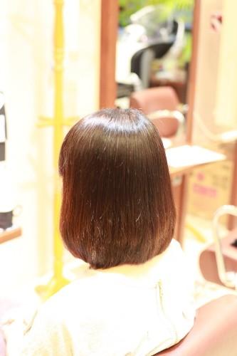 新宿区 上落合 中井駅 美容院 美容室 デュース 縮毛矯正 自然なストレート