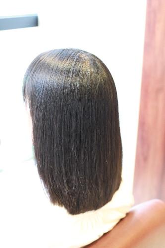 新宿区 上落合 中井駅 美容院 美容室 デュース 電子トリートメント  縮毛矯正 自然なストレート ツヤのある髪 サラサラ