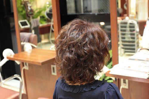 新宿区 上落合 中井駅 美容院 美容室 デュース 電子トリートメント 大きめカール ボリューム