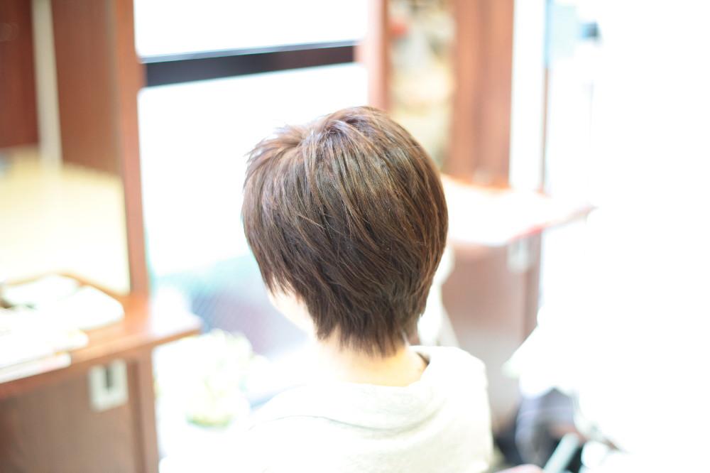 新宿区 上落合 中井駅 美容院 美容室 デュース 電子トリートメント ショートスタイル 明るめ白髪染め