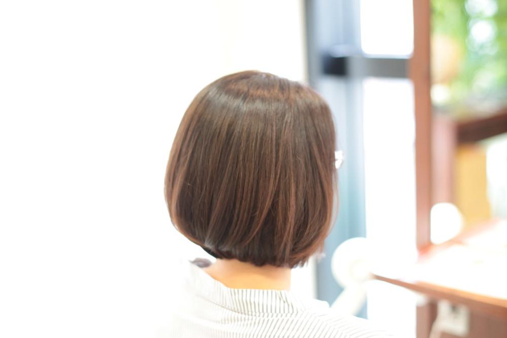 新宿区 上落合 中井駅 美容院 美容室 デュース 電子トリートメント HairSalon D's  髪 傷み 美髪 ツヤ髪 ツヤツヤ ボブスタイル