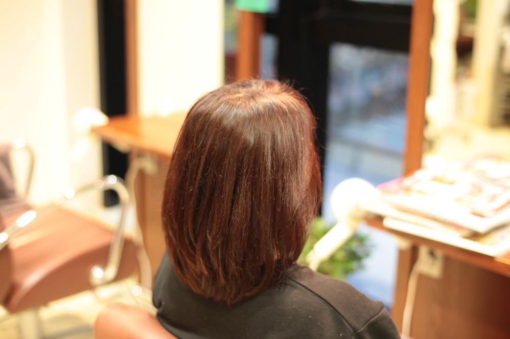 新宿区 上落合 中井駅 美容院 美容室 デュース  トリートメント    髪 傷み 美髪 ツヤ髪 ツヤツヤ 落ち着い色