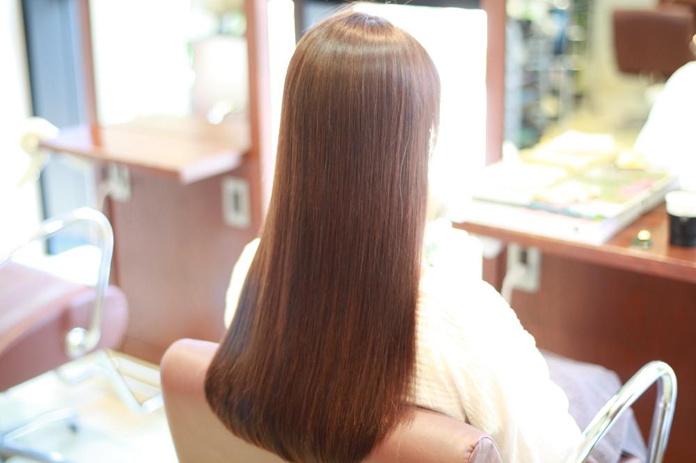 新宿区 上落合 中井駅 美容院 美容室 デュース  電子トリートメント  髪 傷み 自然なストレート